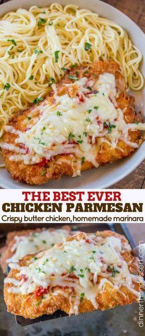 Easy Chicken Parmesan - Dinner, then Dessert