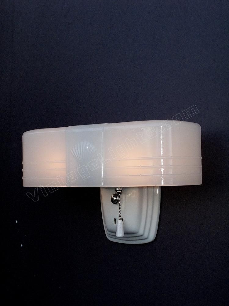 Year 1930 1940 Art Deco Bathroom Bathroom Light Fixtures Bathroom Lighting