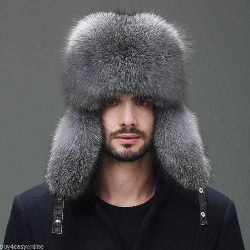 0d6677613caea Men Winter Real Fox Fur Trapper Hat Russia Ushanka Warm Ski Outdoor Cap 10%  OFF  fashion  clothing  shoes  accessories  mensaccessories  hats (ebay  link)