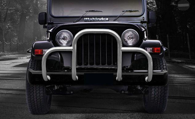 Goldsun Mahindra Thar Front Bumper Stainless Steel Mahindra Thar