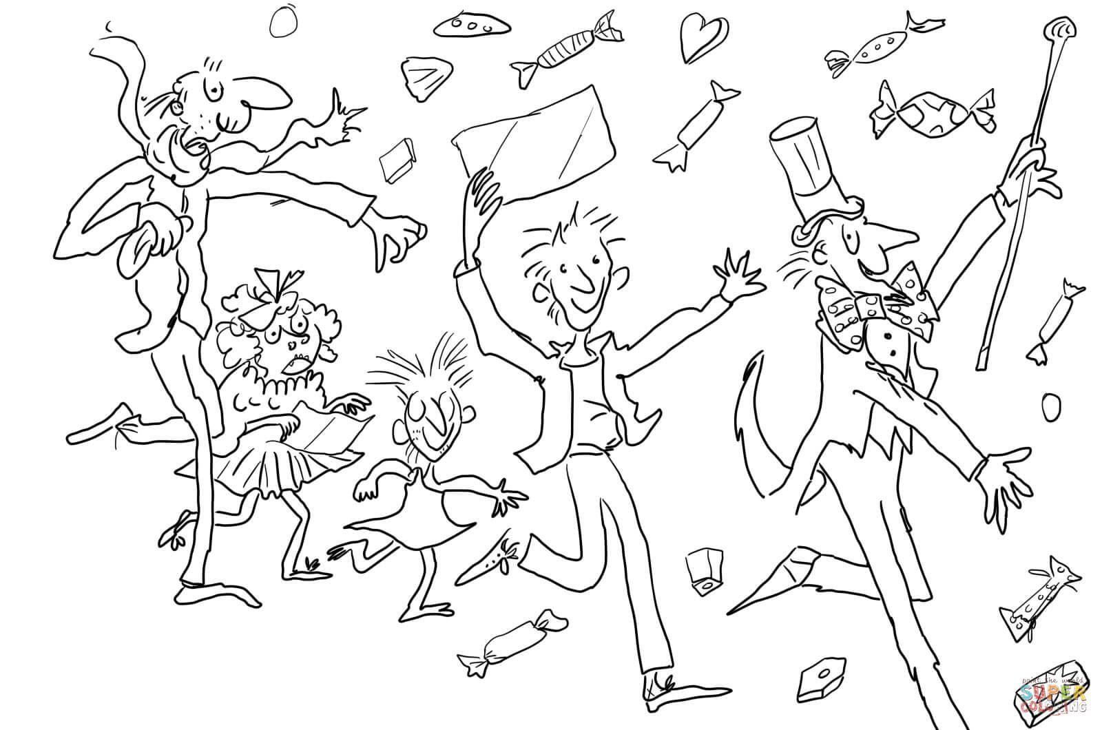 Charlie And The Chocolate Factory Super Coloring Chocoladefabriek Kleurplaten Verjaardagsfeestjes