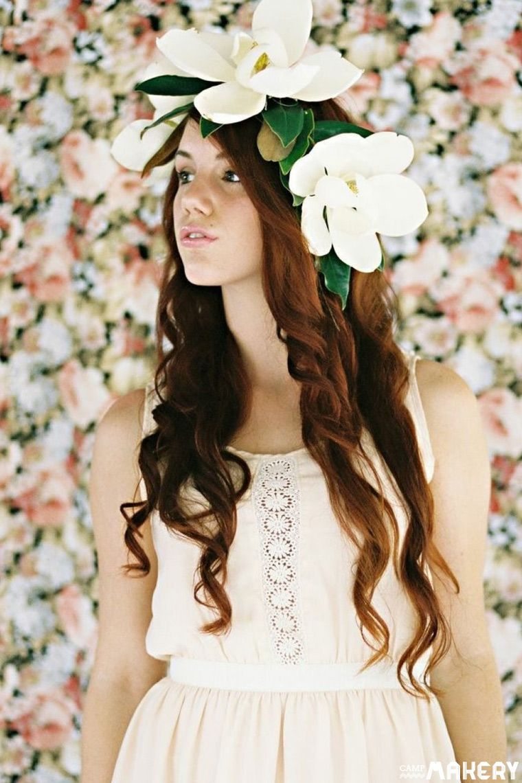 Diy how to make a fresh magnolia flower crown diy how to diy how to make a fresh magnolia flower crown izmirmasajfo
