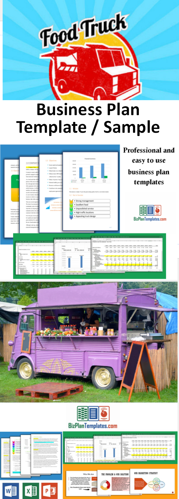 Business Plan Template For Starting And Running A Food Truck - Business plan for food truck template