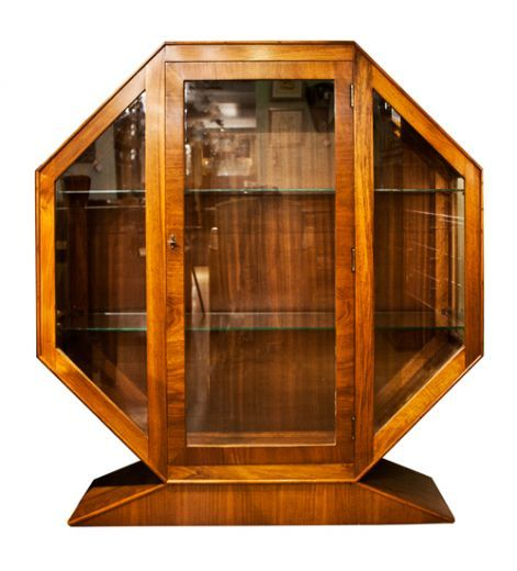 Art Deco Display Cabinets Octagonal Cabinet