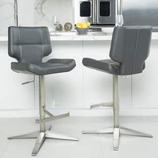 Awesome Brushed Stainless Steel X Base High Back Adjustable Height Onthecornerstone Fun Painted Chair Ideas Images Onthecornerstoneorg