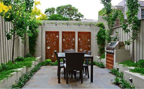 exterior ideen asiatischer garten patio dekoideen gartenmöbel - balkonmobel design ideen optimale nutzung