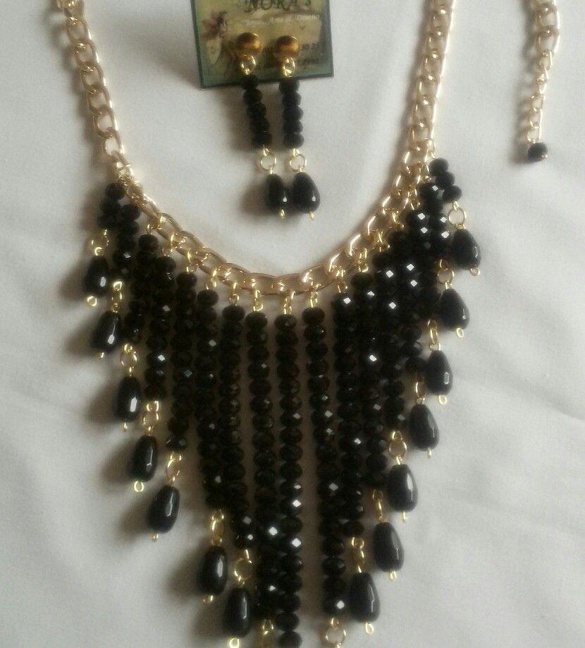 e2686769ffbb Collar Cascada elaborado con cristales