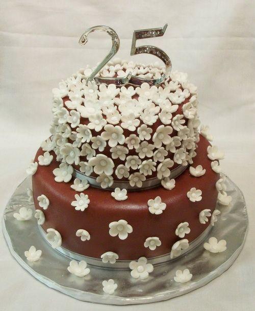 25 wedding anniversary cakes pictures