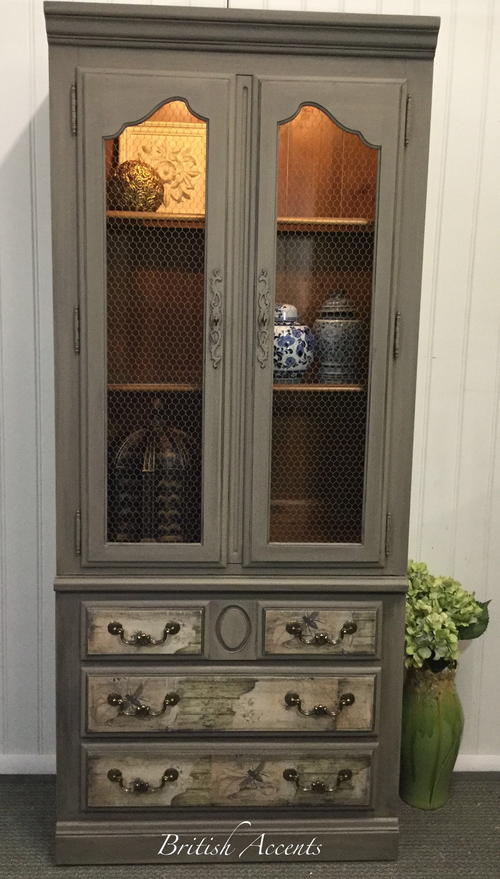 high end china used royal charter furniture finish leaded product w glass ethan buffet allen bookcases cabinet