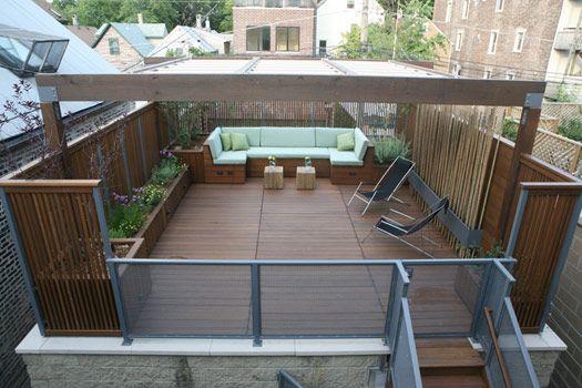 Garage Roof Decking Idea Rooftop Patio Garage Roof Rooftop Deck