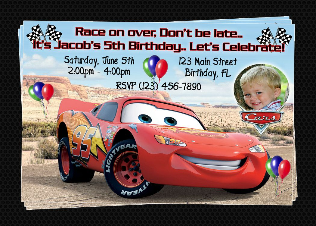 custom cars inspired birthday party invitations diy printable custom disney cars inspired birthday party invitations diy printable file 8 00 via