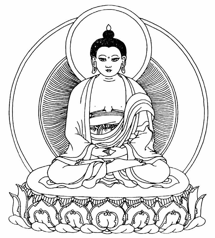 symbole malvorlage buddhismus  coloring and malvorlagan