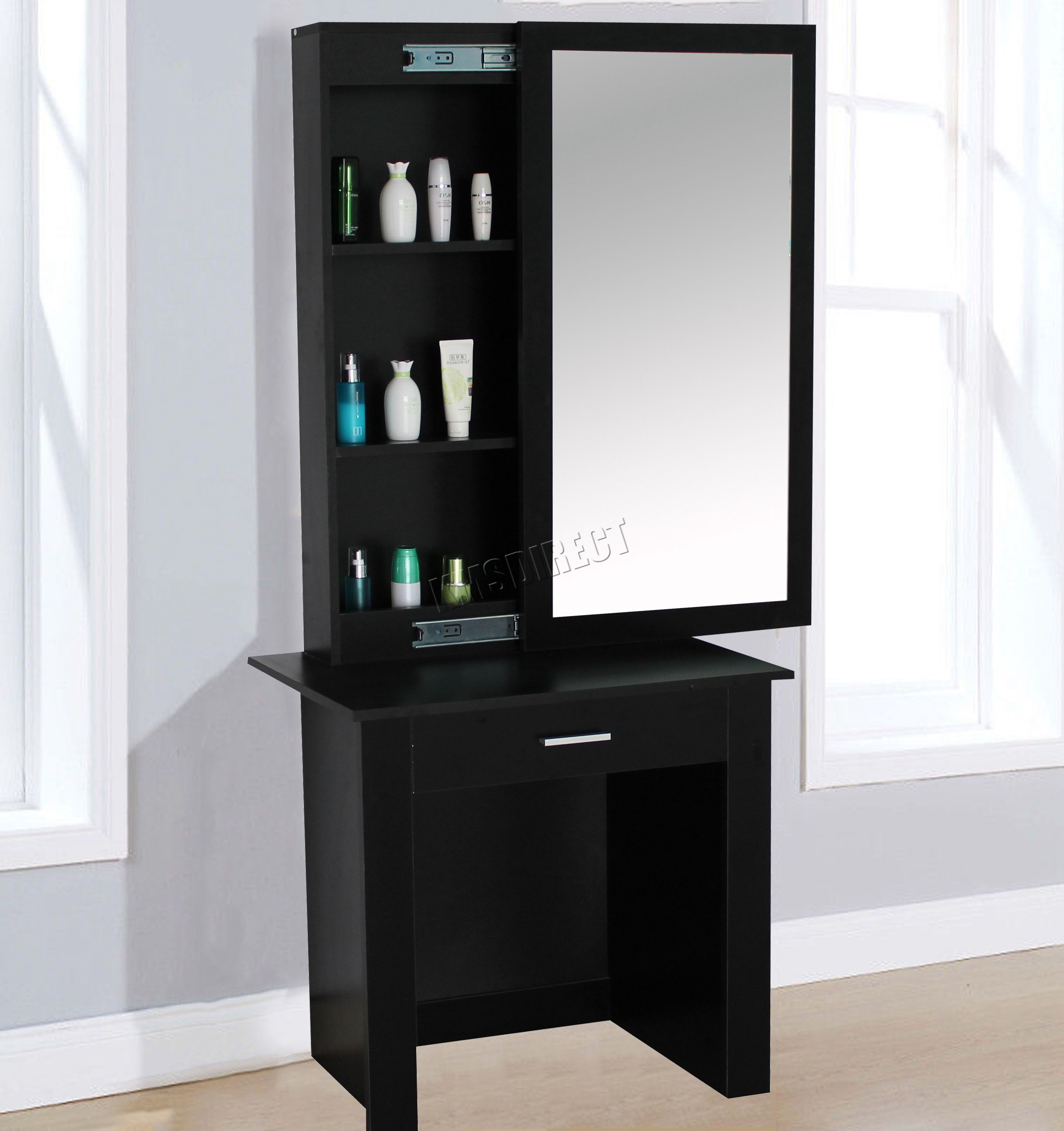 Black dressing table with sliding mirror bedroom design black dressing table with sliding mirror geotapseo Gallery