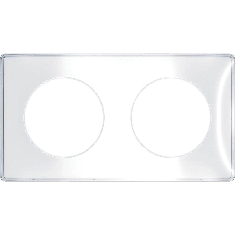 Plaque Double Odace Schneider Electric Blanc Products En