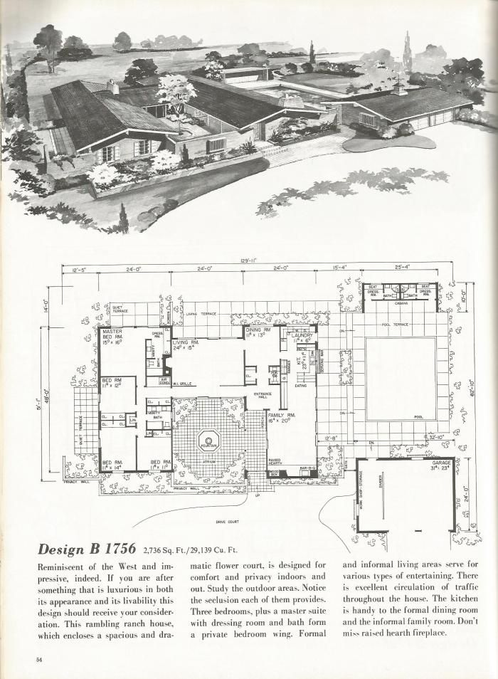 Vintage house plans western ranch houses floor plan for New house plans that look old