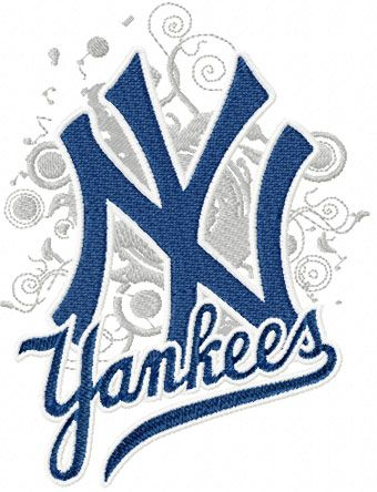 New York Yankees Modern Logo Machine Embroidery Design Machine Embroidery Logo Embroidery Designs Embroidery Logo