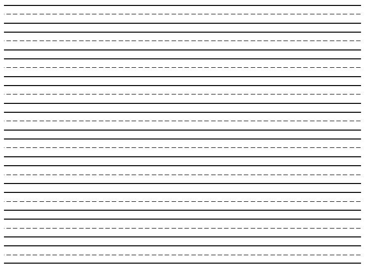 Lined Paper For First Grade Lined Writing Paper For