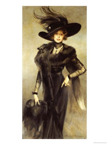Fashionable Beauty Giclee Print by Francois Flameng at Art.com