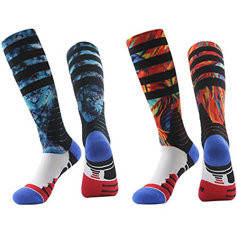 Knee high basketball socks jcolour mens fashion print