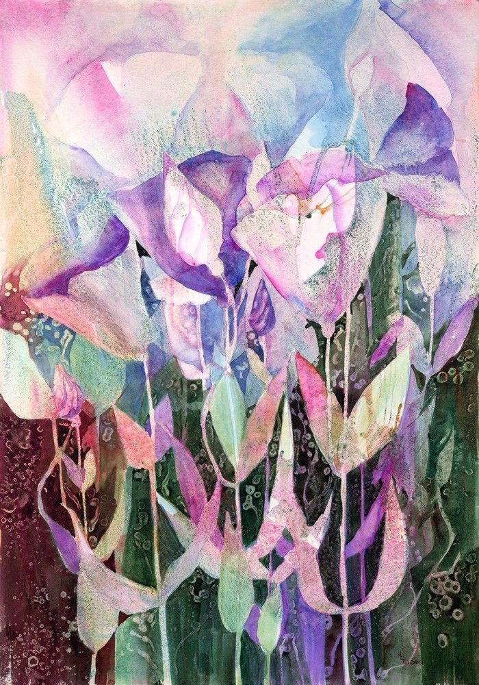 Watercolor Originals and Giclee Prints | abstract floral giclee print from original watercolor $ 40 7x10 print ...