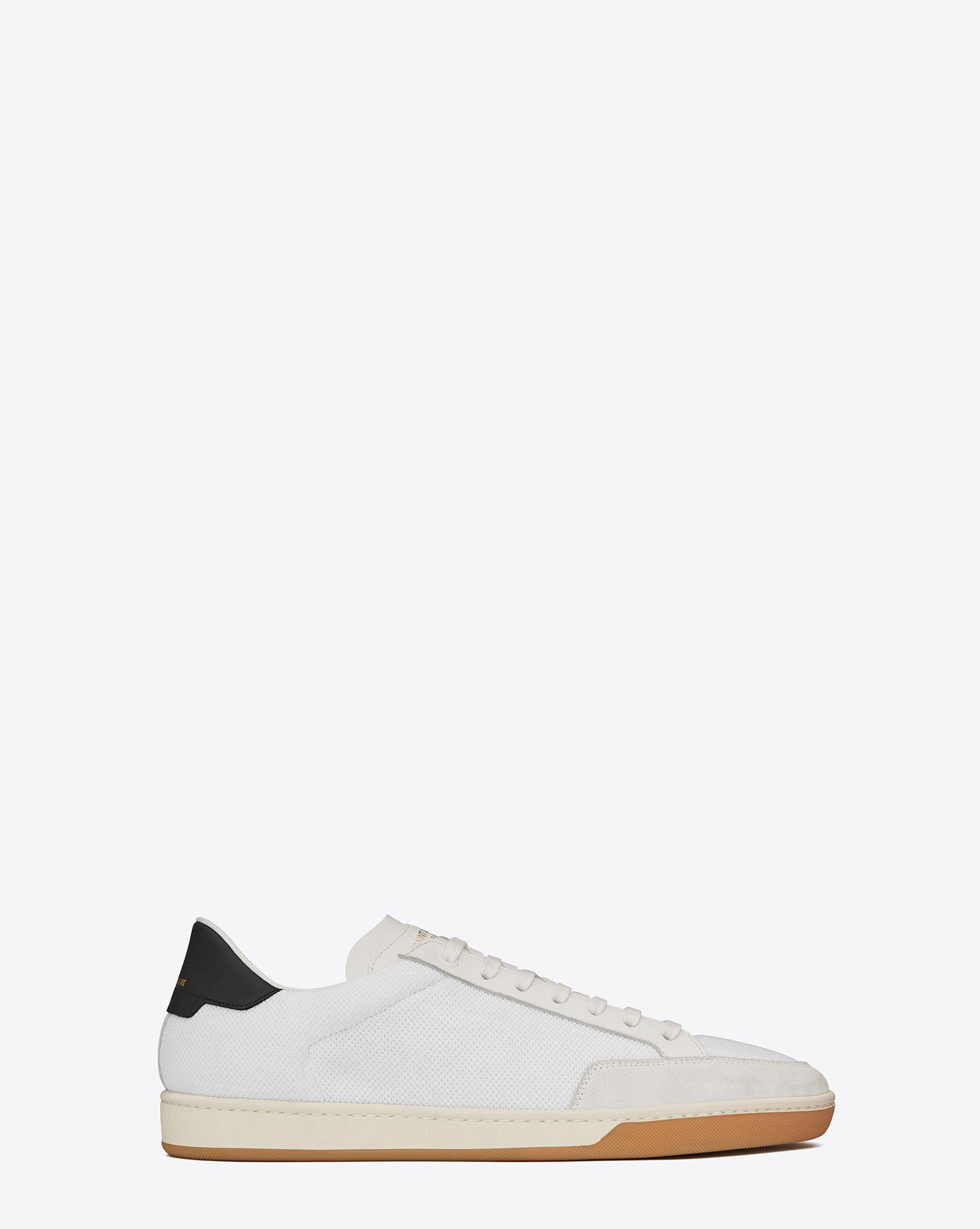 08162d44a76 Saint Laurent SIGNATURE COURT CLASSIC SL/30 SNEAKER IN Powder White Suede,  White FABRIC