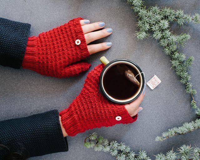 El blog de Dmc: Patron de tricot: Mitones con capucha con Woolly ...