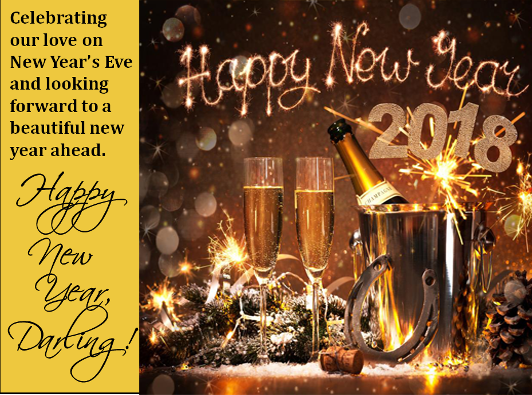 Cute New Year 2018 Greeting Card Romantic New year