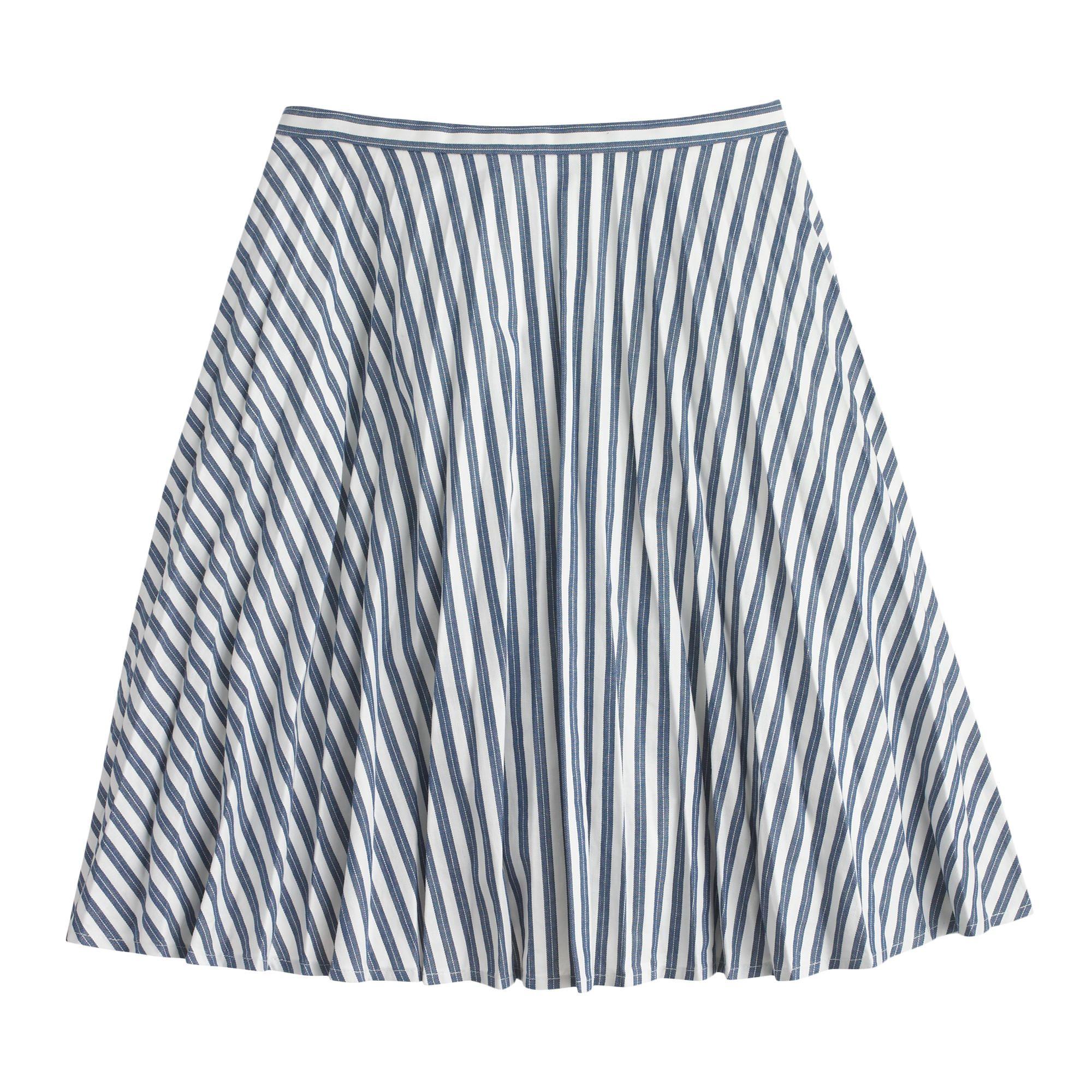 Stripe mini skirt : Mini   J.Crew