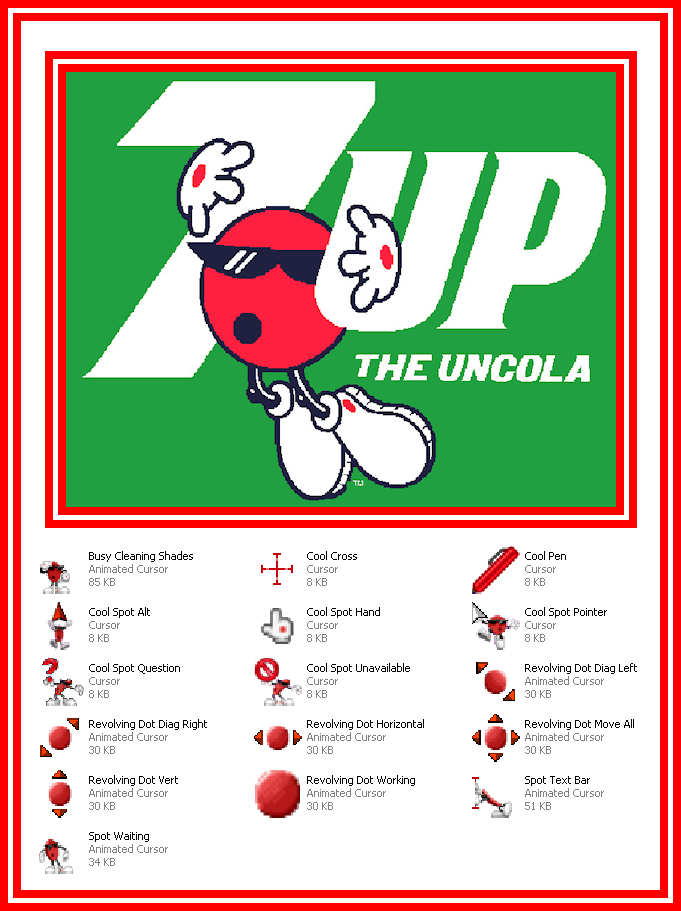 7-Up Cool Spot Cursor Set by Superman8193 deviantart com on