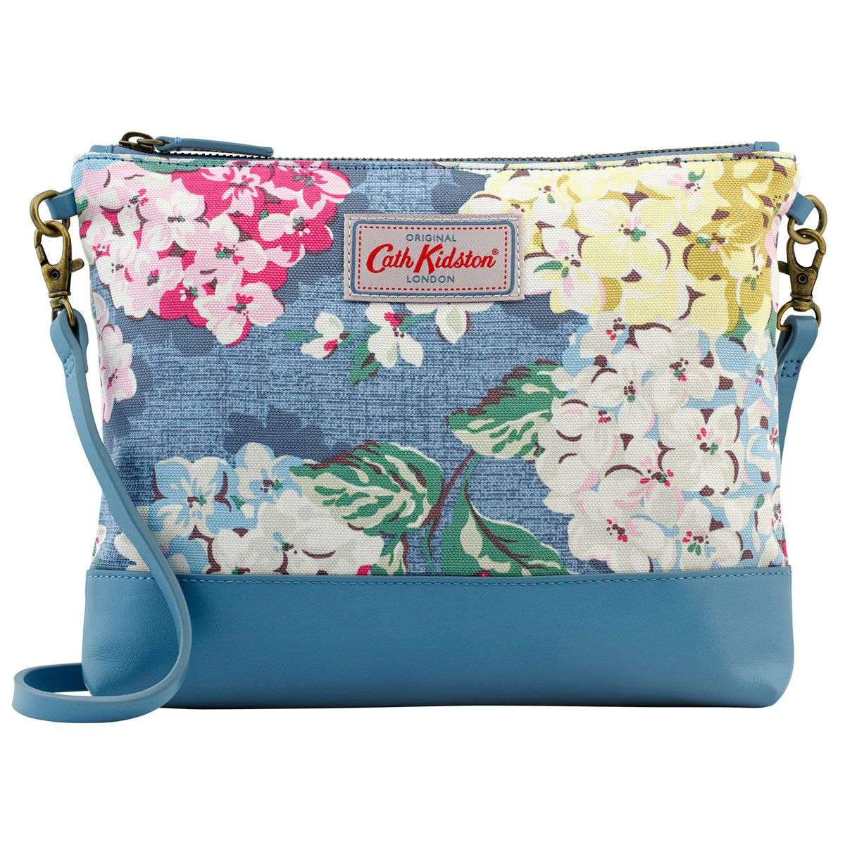 Hydrangea Small Cross Body Canvas & Leather Bag | Bags ...