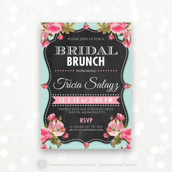Printable Bridal Shower Invitation Bridal Brunch Bridal Tea – Tea Party Bridal Shower Invitations