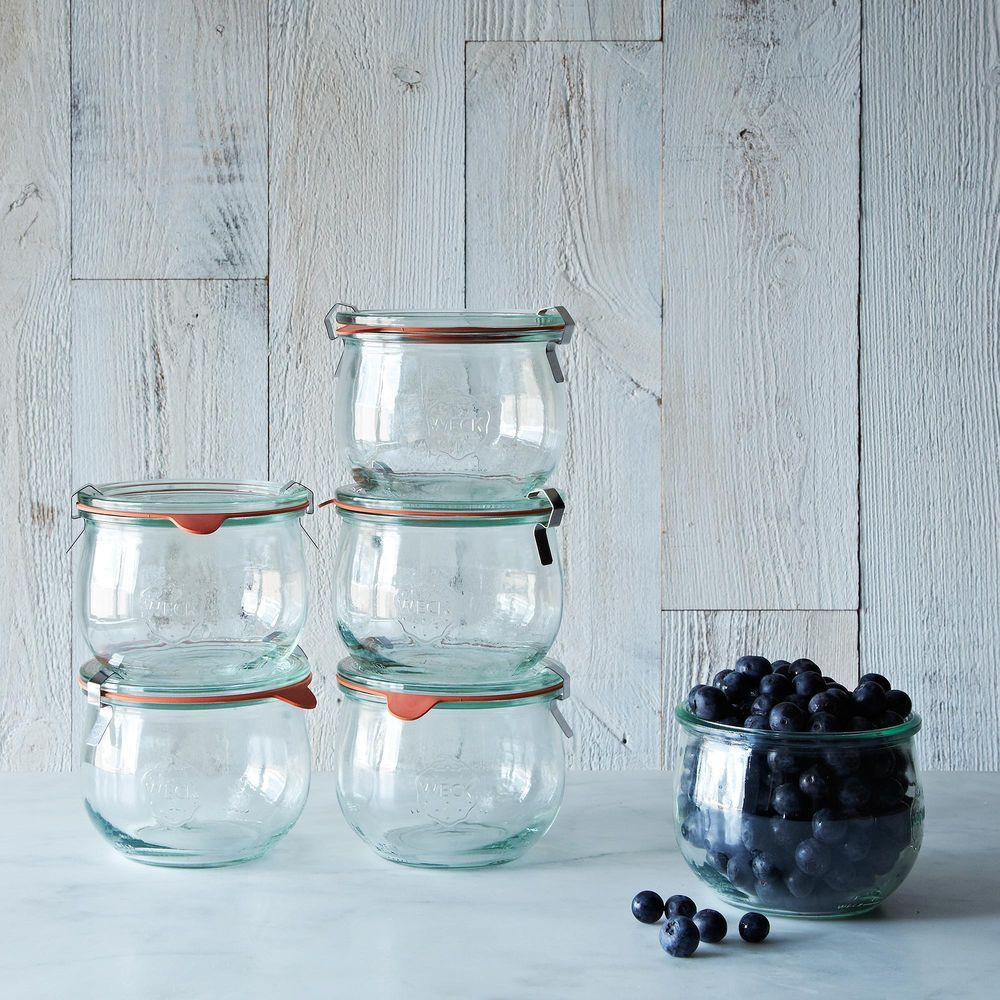 Weck tulip jars set of jar