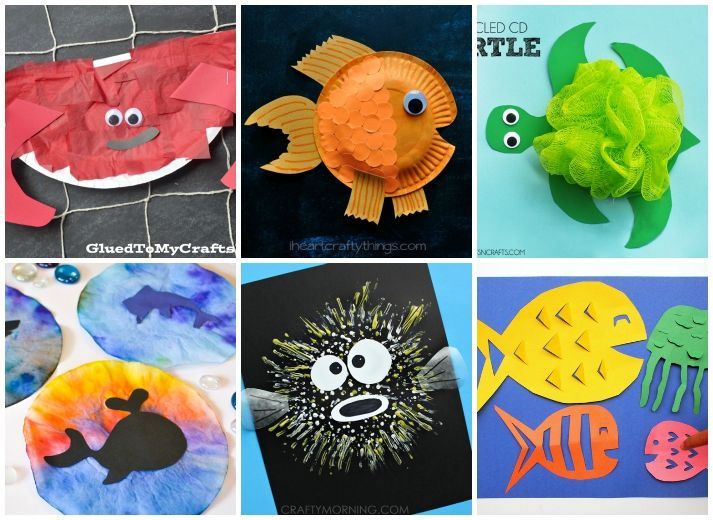 27 Ocean Crafts For Kids | Animal crafts, Ocean and Crafts