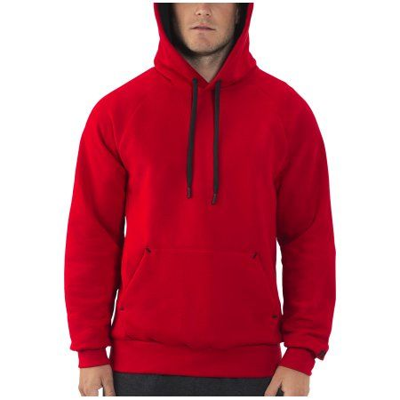 Russell Men's Rich Cotton Fleece Pullover Hood, Size: Small, Red ...