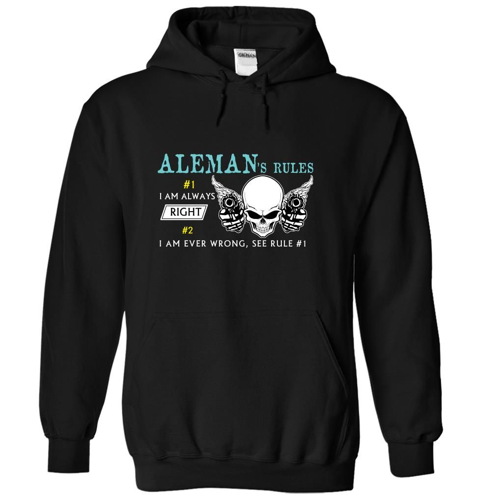 (Rules001) ALEMANs Rules T Shirts, Hoodies. Check price ==► https://www.sunfrog.com/Names/Rules001-ALEMANs-Rules-twycipckkt-Black-42470524-Hoodie.html?41382