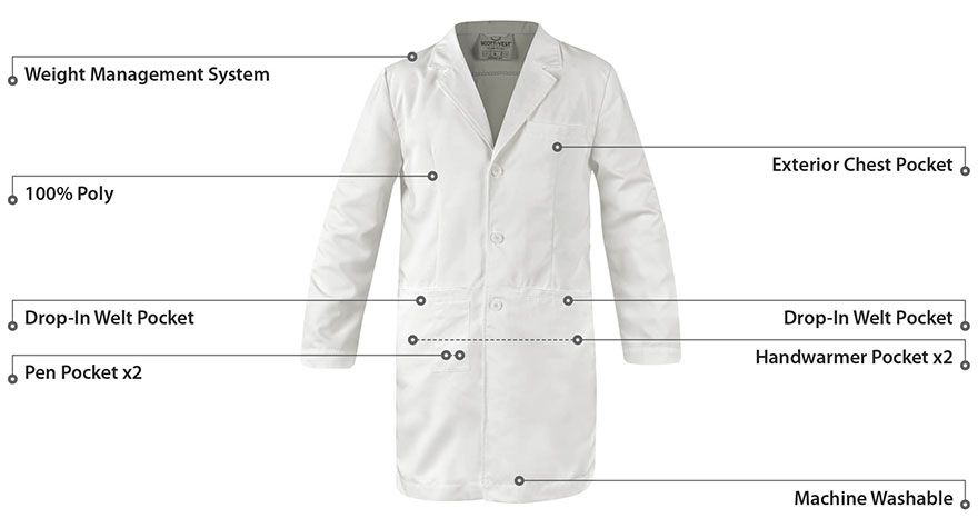 The lab coat gets a redesign with tech in mind | Lab coats and ...