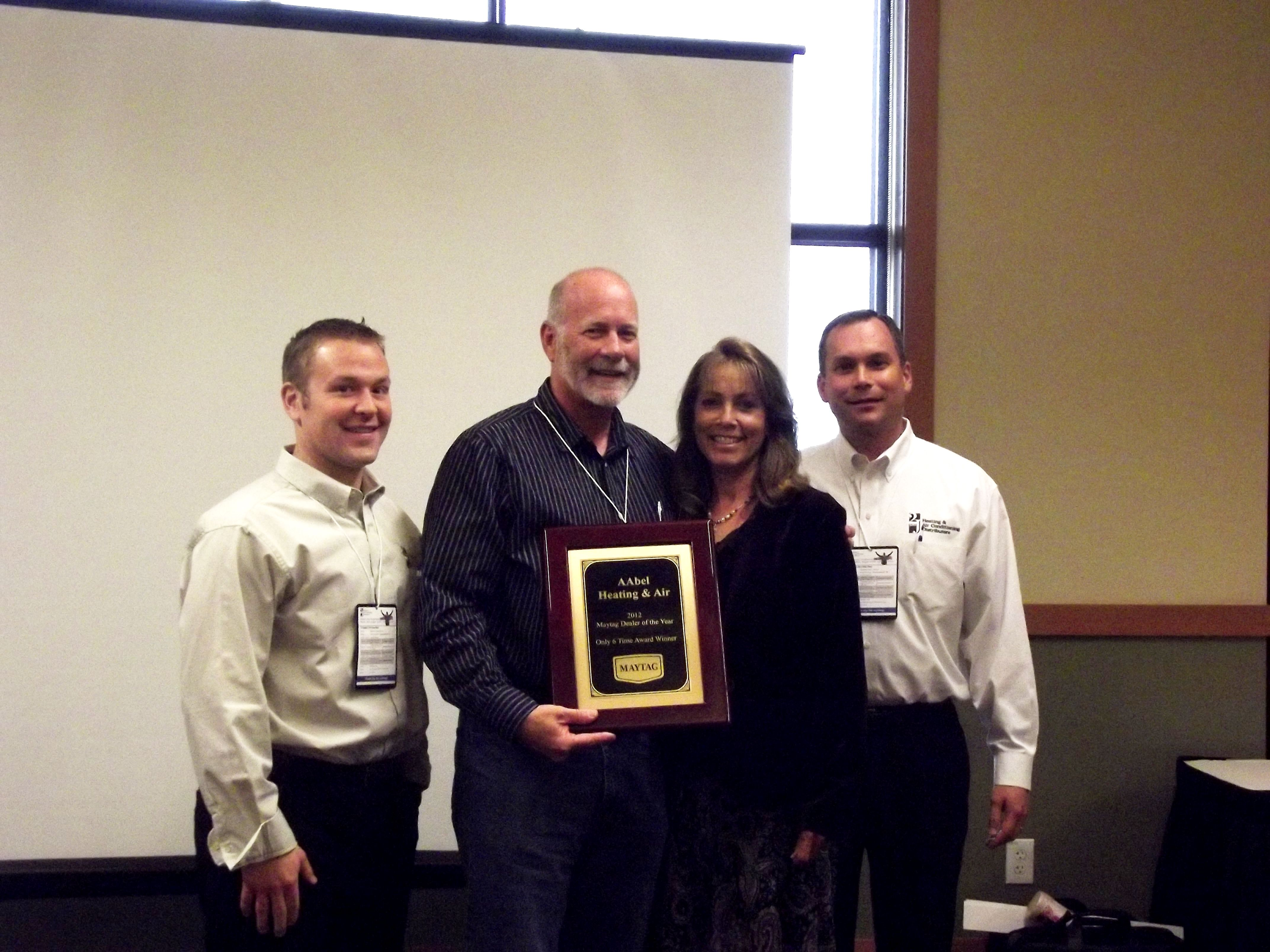 Dayton Branch Maytag Dealer of the Year Aabel Heating