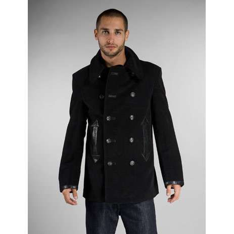 Mens Pea Coat Military Style | Down Coat