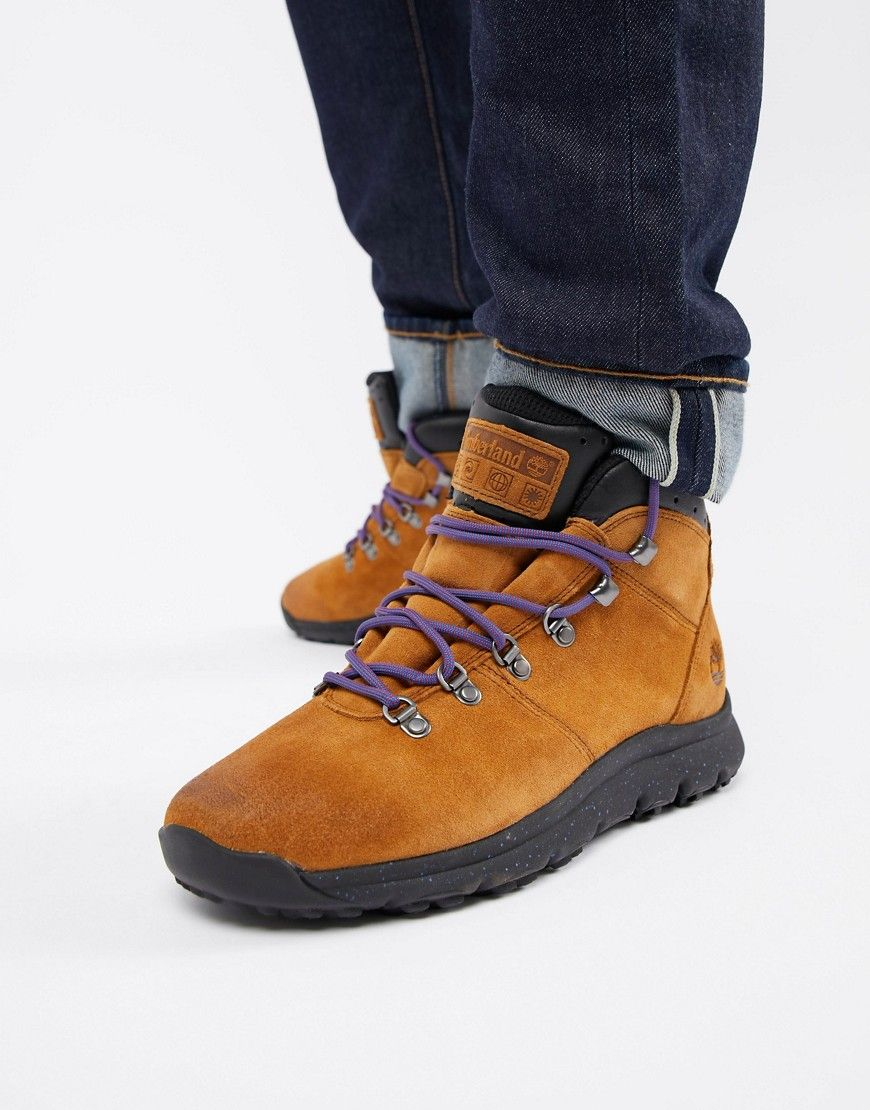 134eb891a76 TIMBERLAND WORLD HIKER BOOTS IN BROWN - BROWN. #timberland #shoes ...