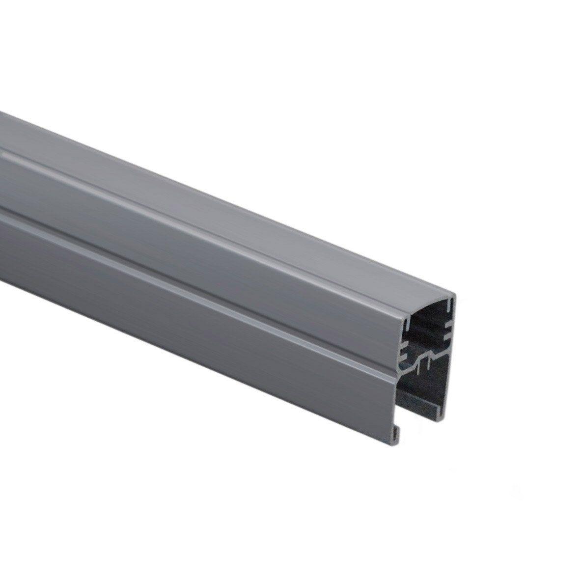 Profil De Finition Aluminium En U Gris Clair H 175 X L 44 X P 34 Cm Composite Premium Gris Clair Gris Et Profil