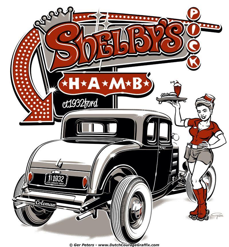 Shelby's HAMB Pick 2014 T-shirt #hotrod #hot #rod #Ford