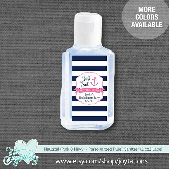 Purell Hand Sanitizer Labels 2 Oz Size Bottle Baby Shower