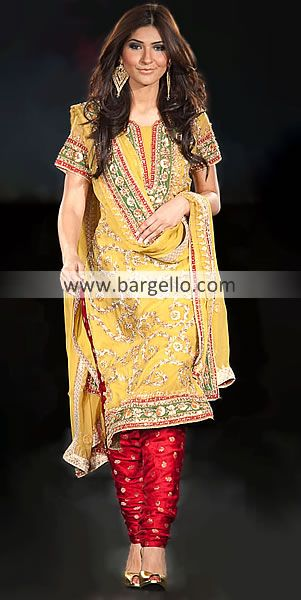 D3573 Yellow Indian Pakistani Outfits a83b6afb1fc7