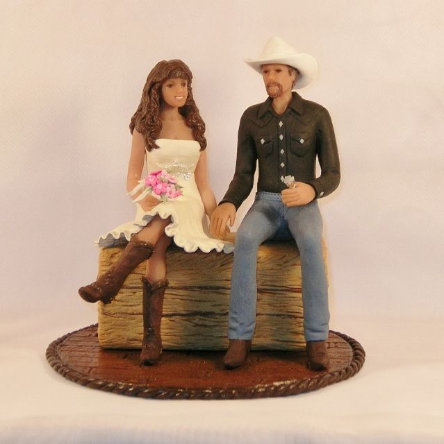 Cowboy Cowgirl Wedding Ideas: Princess And Cowboy Wedding Cake Toppers