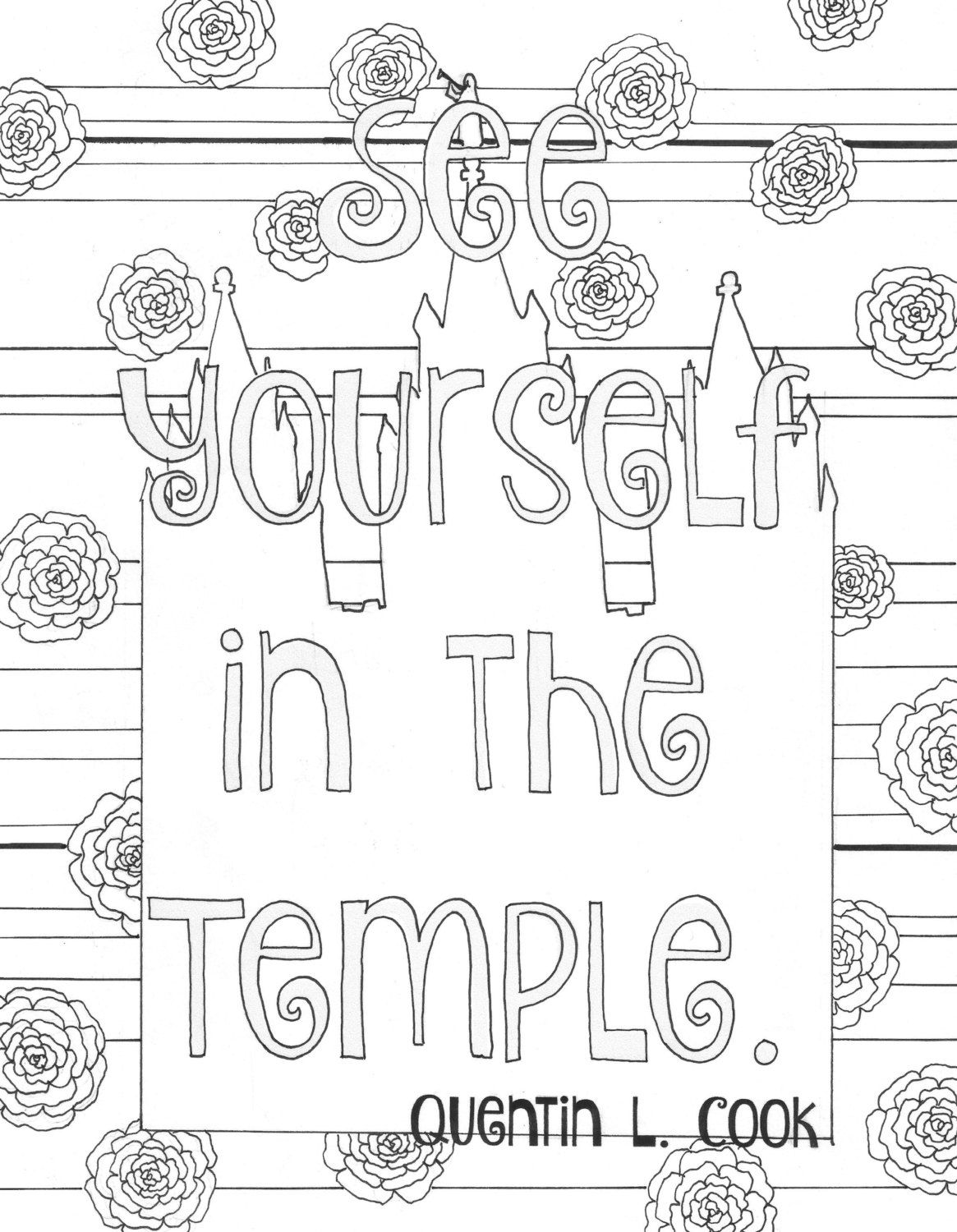 lds mormon general conference quote coloring page by essenceofink