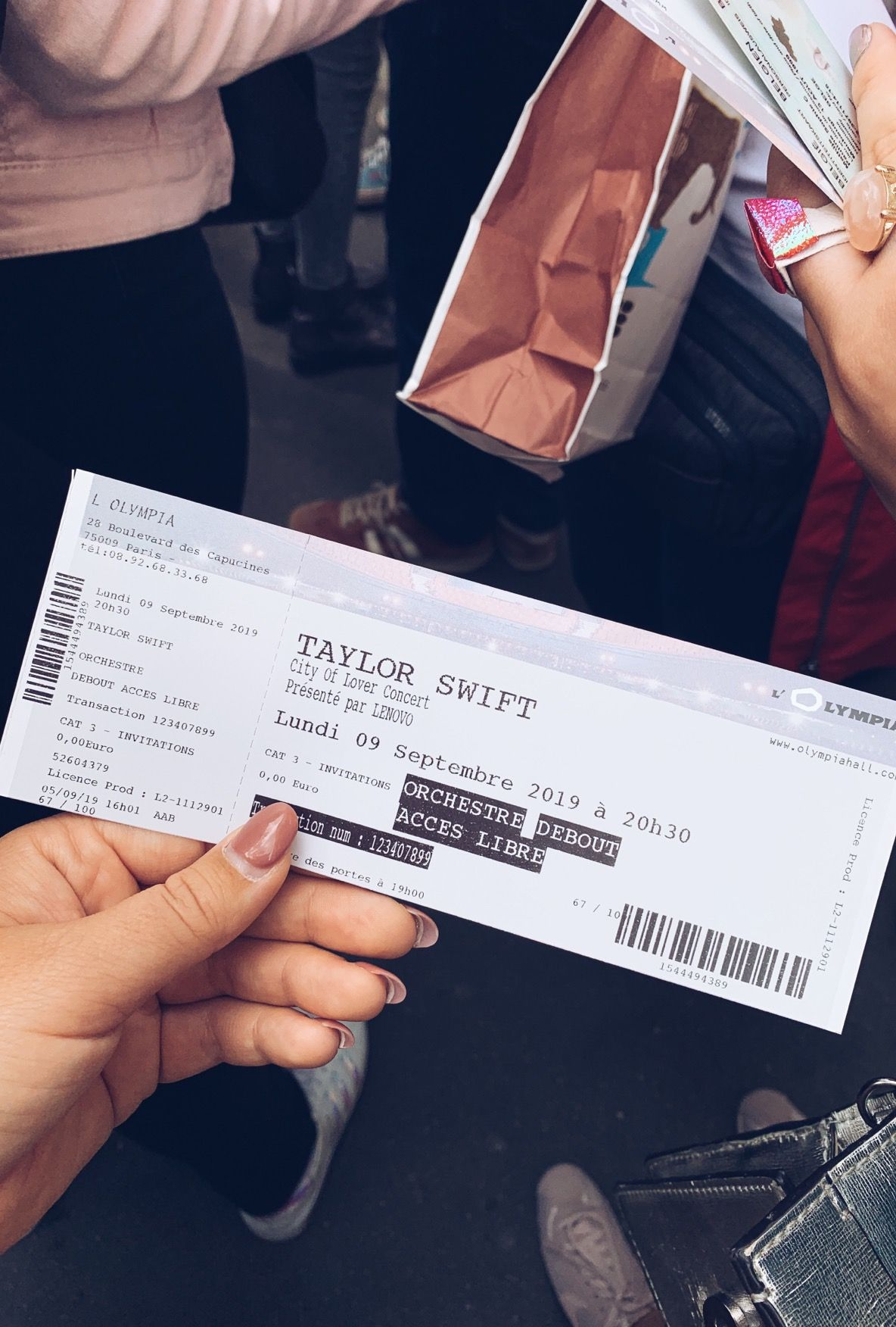 Happiness Is Having A Taylor Swift Concert Ticket In Your Hand Taylor Swift Concert Taylor Swift Tickets Concert Ticket Gift