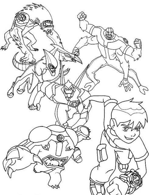 Dibujos de ben 10 para colorear pintar e imprimir family fun - Coloriage ben 10 ...