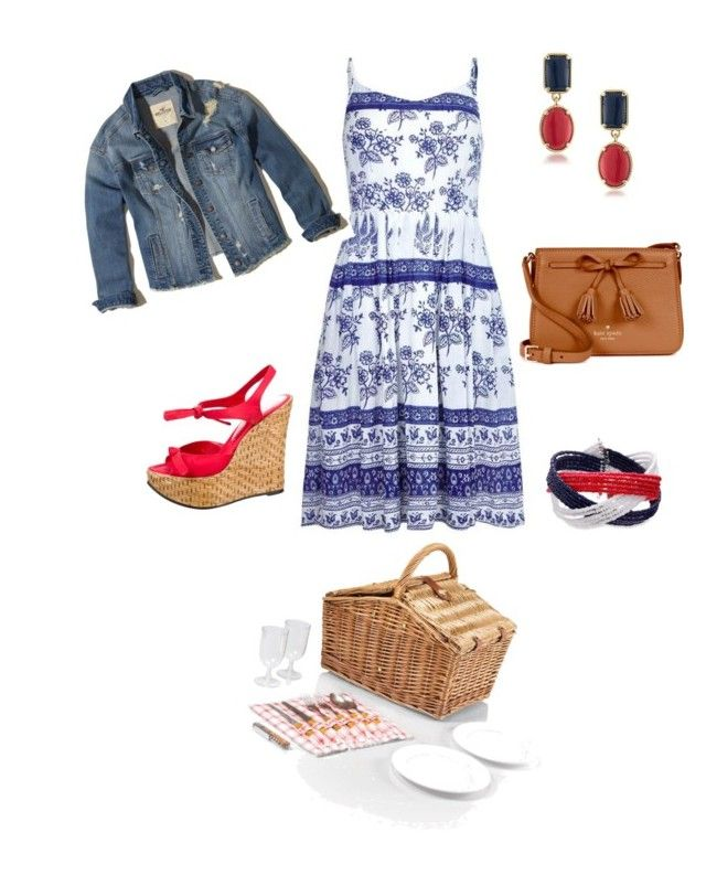 """""""You had me at picnic"""" by sallytcrosswell on Polyvore featuring Dolce&Gabbana, 1st & Gorgeous by Carolee, Hollister Co., Picnic Time and Kate Spade"""