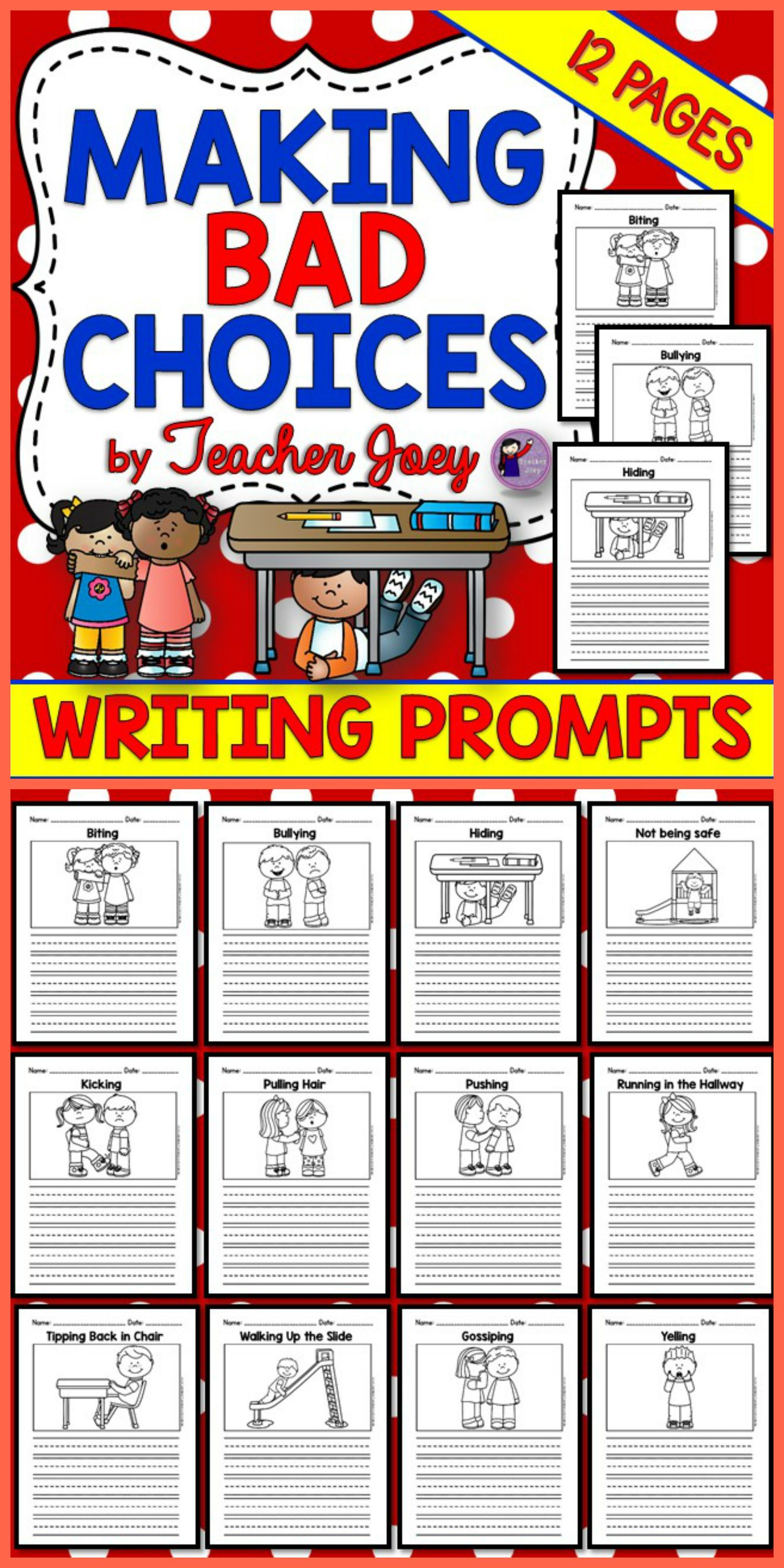 social skills writing prompts