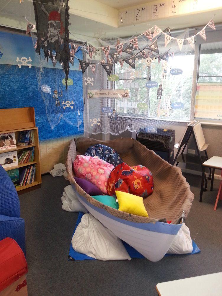 Classroom Ideas Early Years : Pirate ship display classroom class